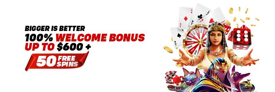 100% Casino Welcome Bonus