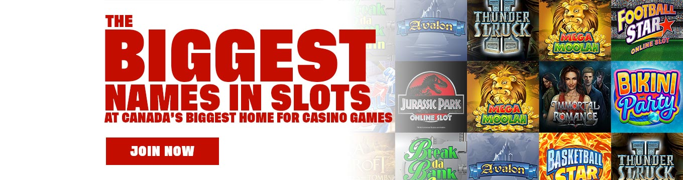 The Biggest Names in Slots