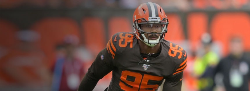 Myles Garrett tries to help the Browns NFL odds in Week 6.