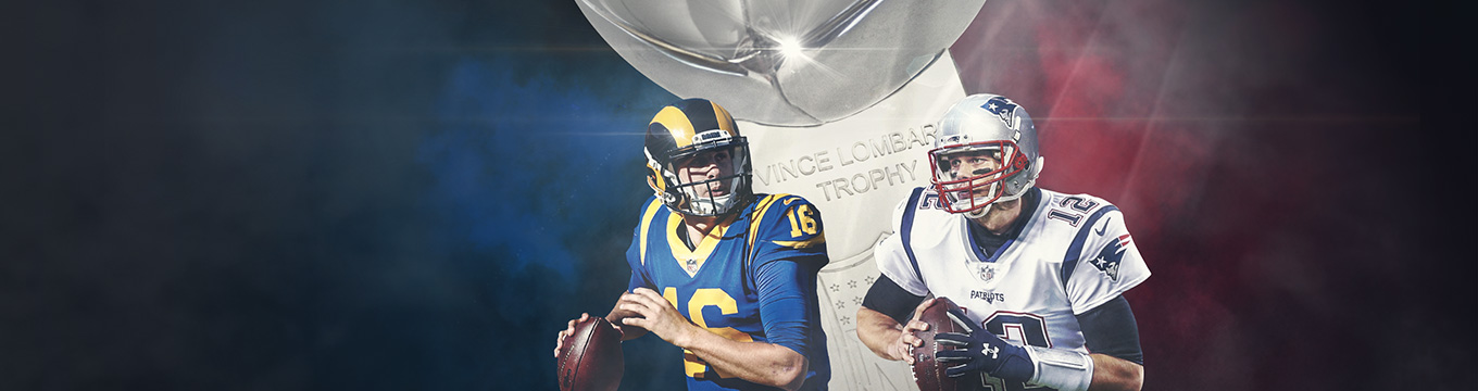 Score a $200 Welcome Bonus to bet on the Pats vs the Rams.